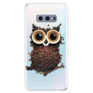 Silikonové odolné pouzdro iSaprio Sova Káva na mobil Samsung Galaxy S10e