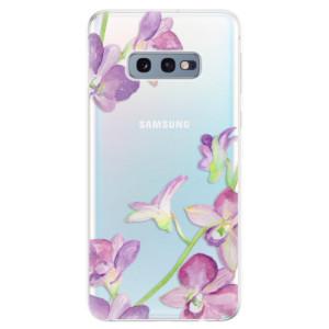Silikonové odolné pouzdro iSaprio Fialové Orchideje na mobil Samsung Galaxy S10e
