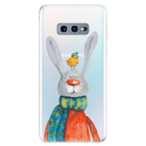 Silikonové odolné pouzdro iSaprio Králík a Pták na mobil Samsung Galaxy S10e