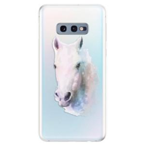 Silikonové odolné pouzdro iSaprio Bílý kůň 01 na mobil Samsung Galaxy S10e