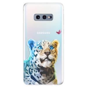 Silikonové odolné pouzdro iSaprio Leopard s Motýlkem na mobil Samsung Galaxy S10e