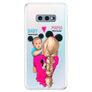 Silikonové odolné pouzdro iSaprio Mama Mouse Blonde and Boy na mobil Samsung Galaxy S10e