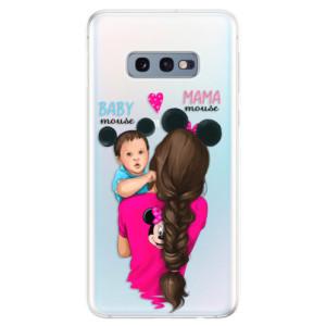 Silikonové odolné pouzdro iSaprio Mama Mouse Brunette and Boy na mobil Samsung Galaxy S10e