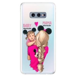 Silikonové odolné pouzdro iSaprio Mama Mouse Blond and Girl na mobil Samsung Galaxy S10e