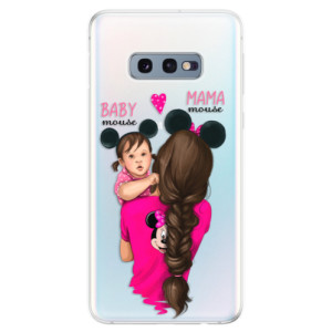 Silikonové odolné pouzdro iSaprio Mama Mouse Brunette and Girl na mobil Samsung Galaxy S10e - poslední kus