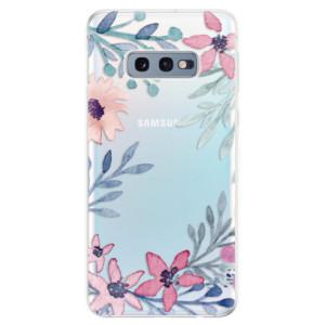 Silikonové odolné pouzdro iSaprio Kvítky a Lístky na mobil Samsung Galaxy S10e
