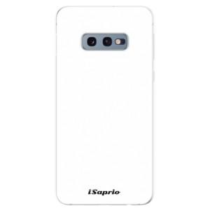 Silikonové odolné pouzdro iSaprio 4Pure bílé na mobil Samsung Galaxy S10e