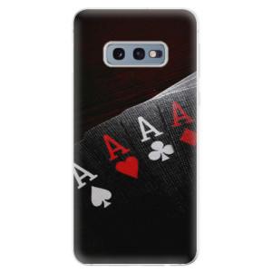 Silikonové odolné pouzdro iSaprio Poker na mobil Samsung Galaxy S10e