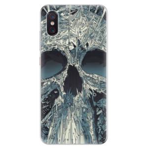 Silikonové odolné pouzdro iSaprio Abstract Skull na mobil Xiaomi Mi 8 Pro