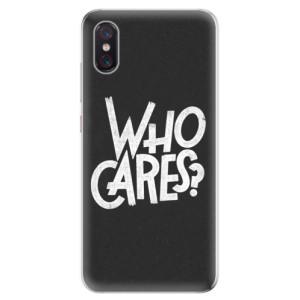 Silikonové odolné pouzdro iSaprio Who Cares na mobil Xiaomi Mi 8 Pro