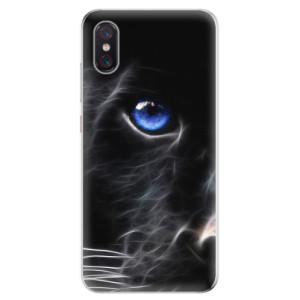 Silikonové odolné pouzdro iSaprio Black Puma na mobil Xiaomi Mi 8 Pro