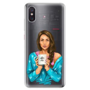 Silikonové odolné pouzdro iSaprio Coffee Now Brunetka na mobil Xiaomi Mi 8 Pro