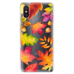 Silikonové odolné pouzdro iSaprio Podzimní Lístečky na mobil Xiaomi Mi 8 Pro