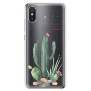 Silikonové odolné pouzdro iSaprio Kaktusy 02 na mobil Xiaomi Mi 8 Pro