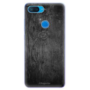 Silikonové odolné pouzdro iSaprio Black Wood 13 na mobil Xiaomi Mi 8 Lite