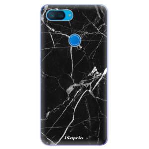 Silikonové odolné pouzdro iSaprio Black Marble 18 na mobil Xiaomi Mi 8 Lite