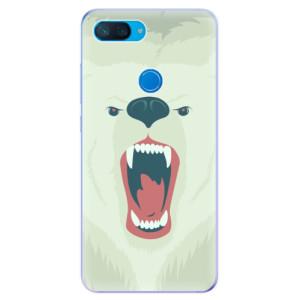 Silikonové odolné pouzdro iSaprio Naštvanej Medvěd na mobil Xiaomi Mi 8 Lite
