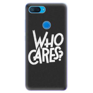 Silikonové odolné pouzdro iSaprio Who Cares na mobil Xiaomi Mi 8 Lite