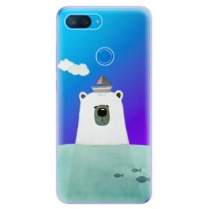 Silikonové odolné pouzdro iSaprio Medvěd s Lodí na mobil Xiaomi Mi 8 Lite