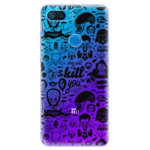 Silikonové odolné pouzdro iSaprio Komiks 01 black na mobil Xiaomi Mi 8 Lite