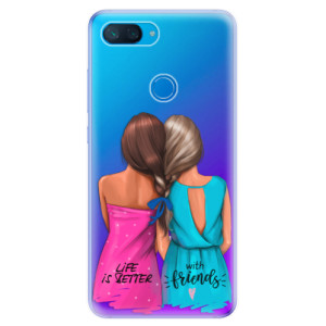 Silikonové odolné pouzdro iSaprio Best Friends na mobil Xiaomi Mi 8 Lite