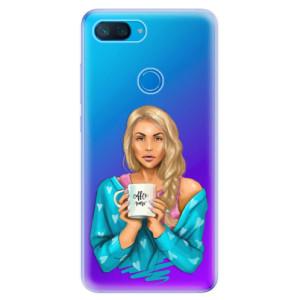 Silikonové odolné pouzdro iSaprio Coffee Now Blondýna na mobil Xiaomi Mi 8 Lite