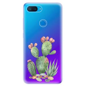 Silikonové odolné pouzdro iSaprio Kaktusy 01 na mobil Xiaomi Mi 8 Lite