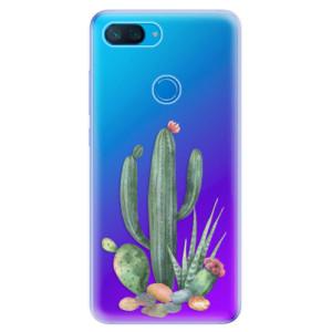 Silikonové odolné pouzdro iSaprio Kaktusy 02 na mobil Xiaomi Mi 8 Lite