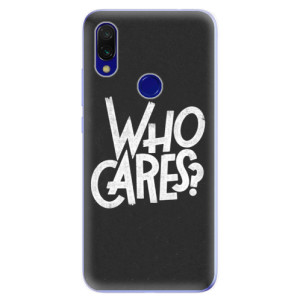 Silikonové odolné pouzdro iSaprio Who Cares na mobil Xiaomi Redmi 7