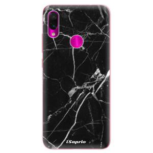 Silikonové odolné pouzdro iSaprio Black Marble 18 na mobil Xiaomi Redmi Note 7