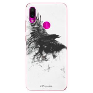 Silikonové odolné pouzdro iSaprio Havran 01 na mobil Xiaomi Redmi Note 7