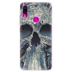 Silikonové odolné pouzdro iSaprio Abstract Skull na mobil Xiaomi Redmi Note 7