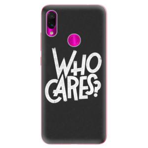 Silikonové odolné pouzdro iSaprio Who Cares na mobil Xiaomi Redmi Note 7
