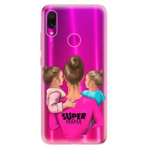 Silikonové odolné pouzdro iSaprio Super Máma Two Girls na mobil Xiaomi Redmi Note 7