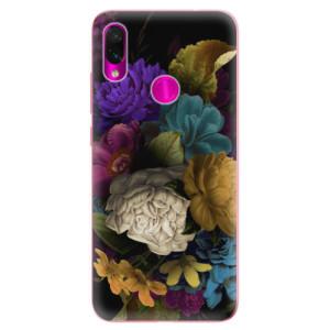 Silikonové odolné pouzdro iSaprio Temné Květy na mobil Xiaomi Redmi Note 7