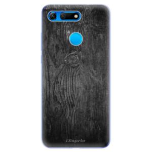 Silikonové odolné pouzdro iSaprio Black Wood 13 na mobil Honor View 20