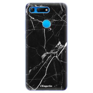 Silikonové odolné pouzdro iSaprio Black Marble 18 na mobil Honor View 20
