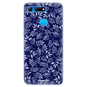 Silikonové odolné pouzdro iSaprio Blue Leaves 05 na mobil Honor View 20