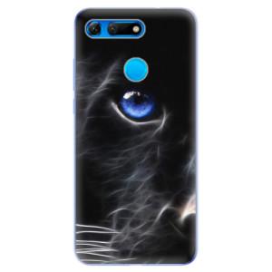 Silikonové odolné pouzdro iSaprio Black Puma na mobil Honor View 20
