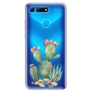 Silikonové odolné pouzdro iSaprio Kaktusy 01 na mobil Honor View 20