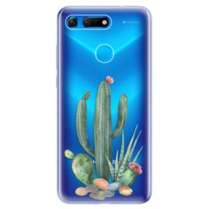 Silikonové odolné pouzdro iSaprio Kaktusy 02 na mobil Honor View 20