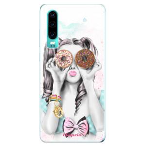 Silikonové odolné pouzdro iSaprio Donutky Očiska 10 na mobil Huawei P30