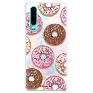 Silikonové odolné pouzdro iSaprio Donutky Všude 11 na mobil Huawei P30