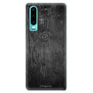 Silikonové odolné pouzdro iSaprio Black Wood 13 na mobil Huawei P30