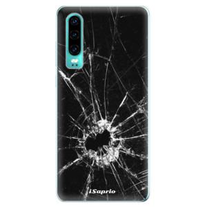 Silikonové odolné pouzdro iSaprio Broken Glass 10 na mobil Huawei P30