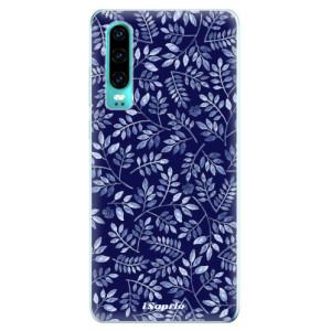 Silikonové odolné pouzdro iSaprio Blue Leaves 05 na mobil Huawei P30