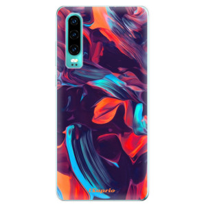 Silikonové odolné pouzdro iSaprio Barevný mramor 19 na mobil Huawei P30