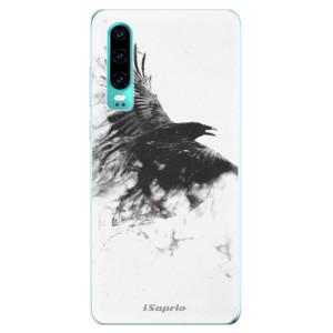 Silikonové odolné pouzdro iSaprio Havran 01 na mobil Huawei P30