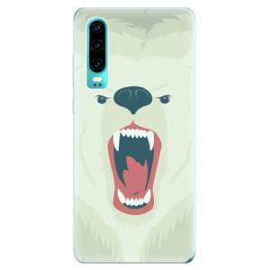 Silikonové odolné pouzdro iSaprio Naštvanej Medvěd na mobil Huawei P30