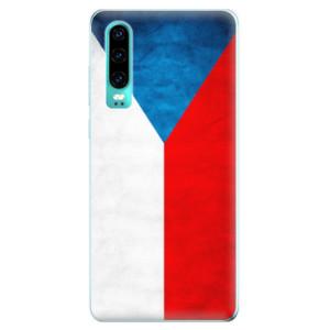 Silikonové odolné pouzdro iSaprio Česká Vlajka na mobil Huawei P30